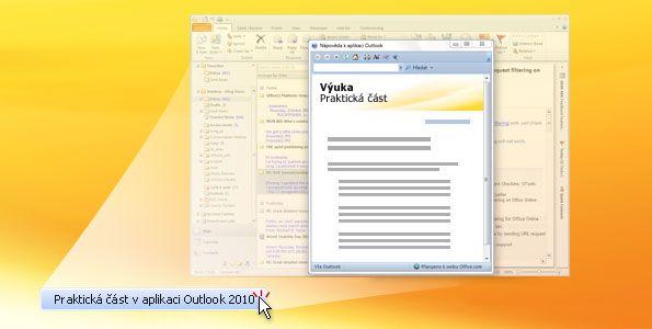 Praktická část v aplikaci Outlook 2010