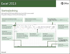 Excel 2013 Startvejledning