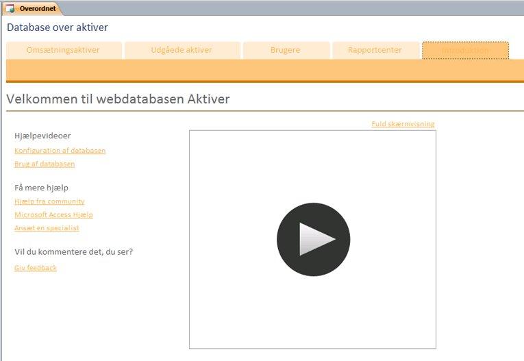 Webdatabase over aktiver