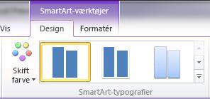 Gruppen SmartArt-typografier på fanen Design under SmartArt-værktøjer