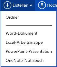 Erstellen eines neuen Dokuments