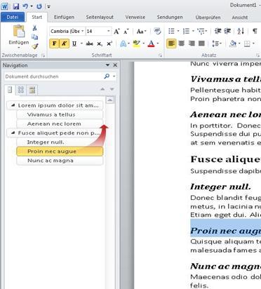 Dokumentnavigation