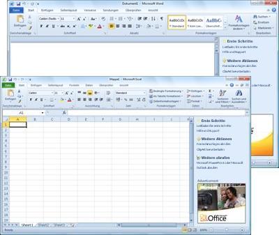 Word Starter und Excel Starter