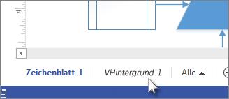 """Registerkarte """"Hintergrund"""" in Visio"""