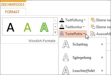 Formatieren von Text