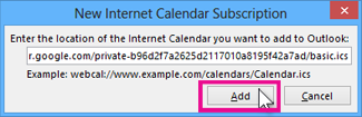 internet calendar subscription