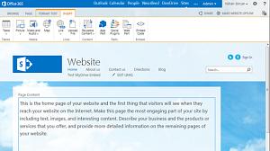 New public website in Office 365