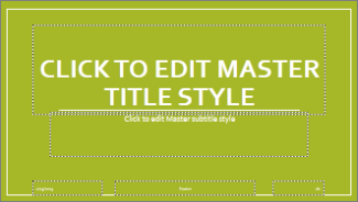 Basis Title Slide Layout in PowerPoint
