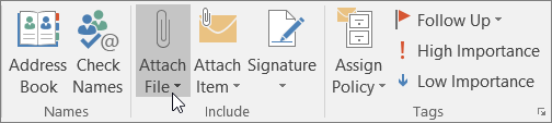 Attach file to a message