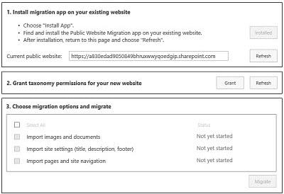 Public Website Content Migration app