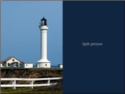 Transition effect for split picture, slide 2