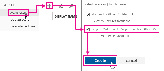 Add users and licenses