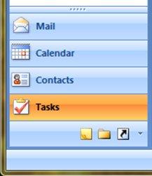 Tasks in Outlook 2007