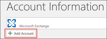 Outlook 2016 Add Account