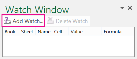 Add Watch button in the Watch Window