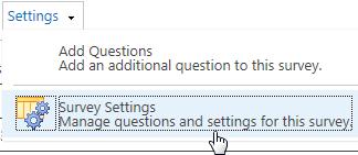 Survey settings