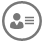 Contact card icon