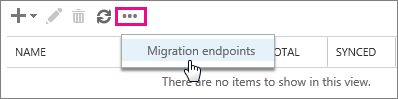 Select Migration endpoint.