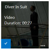 Screenshot of a thumbnail image in a SharePoint Asset Library. An overlay detail pane is scrolled up over the image, and displays information about the file.