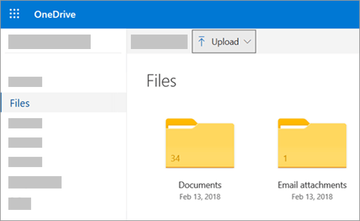 OneDrive.com upload