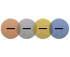 Linear Venn SmartArt graphic layout