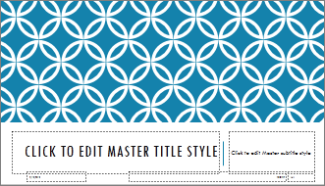 Integral Title Slide Layout in PowerPoint