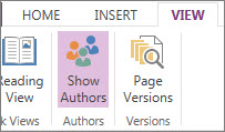 Show Authors command
