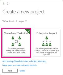 SharePoint Tasks List project