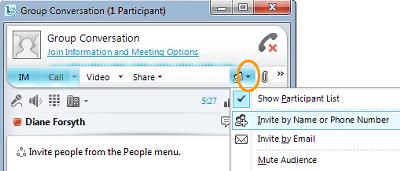 Lync Invite People