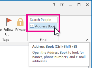 Searching for people in the Global Address List to add to contacts