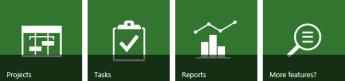 Project Web App tiles