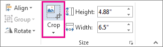 Crop command on the Picture Tools Format tab