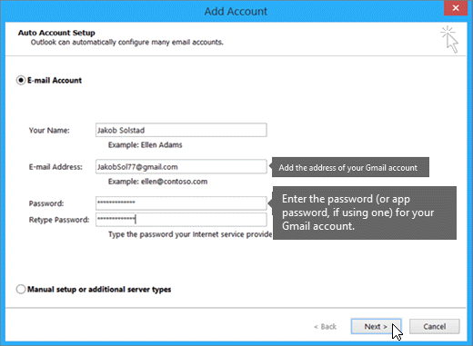 support troubleshooting retrieve email address