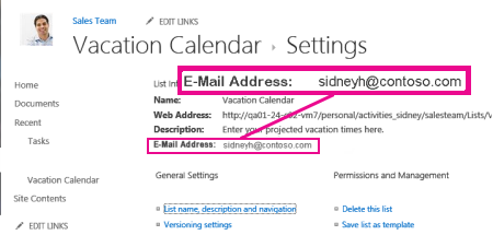Add files by sending email