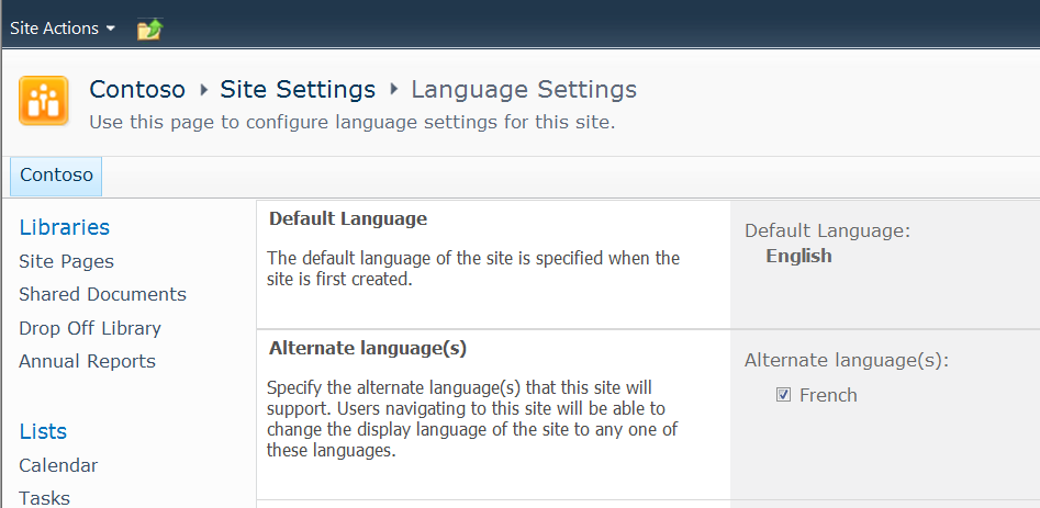 Set language for users