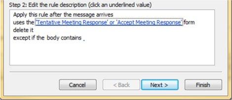 Step 2 Edit Rule dialog box in Outlook 2007