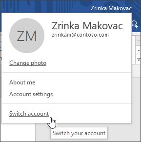 Switch Account
