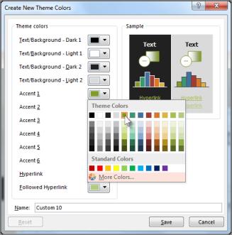 Change a theme color