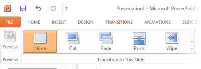 The Transitions tab