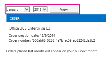Select the month and year of the invoice you want to view.