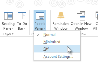 Click People Pane, and then click Off