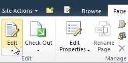 Edit command of the Page tab
