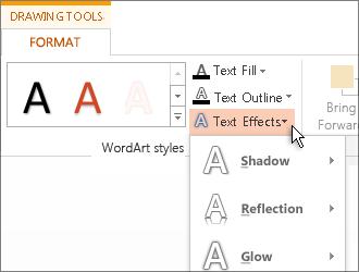 Format text