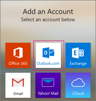 Select Outlook.com