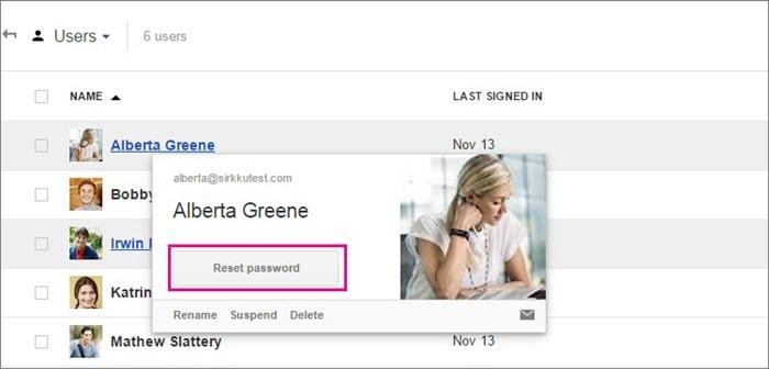 Reset Gmail password.