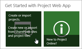 Create or import projects