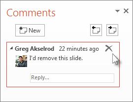 Delete a comment