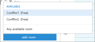 Scheduling Assistant add a room