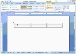 Using Table Tools in Word 2007