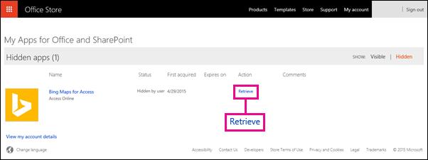 Retrieve an Office Add-in